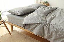 DESY Baumwolle und Leinen weiche Bettabdeckungen, 4 Stück reine Farbtasten, Bettdecke Bett Doppelbett Paket , A , king