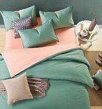 DESY Cotton solide vierteilige, Baumwoll-Hotel-Schlafsaal Bettwäsche, Heimtextilien Bettwäsche , 7 , king