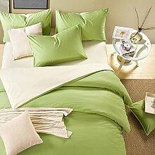 DESY Cotton solide vierteilige, Baumwoll-Hotel-Schlafsaal Bettwäsche, Heimtextilien Bettwäsche , 2 , queen