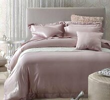 DESY Haushaltsgegenstände> Seidenbettwäsche, Bettbezug> Doppelseitige Seide vierteilig> Bettwäsche & Kissenbezug / Bettwäsche , 2 , queen