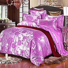 DESY Satin Seide Baumwolle vier Sets, Baumwolle Hochzeit Quilt, Luxus Bettwäsche, Baumwolle Bettwäsche , 3 , king