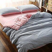DESY Strickbaumwolle vier Sätze Baumwollgewebe, Bettwäschebezüge, bequeme Baumwollsets von zu Hause , 2 , king