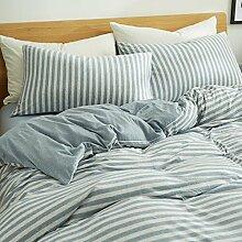 DESY Strickbaumwolle vier Sätze Baumwollgewebe, Bettwäschebezüge, bequeme Baumwollsets von zu Hause , 1 , queen