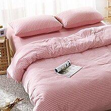 DESY Strickbaumwolle vier Sätze Baumwollgewebe, Bettwäschebezüge, bequeme Baumwollsets von zu Hause , 3 , full