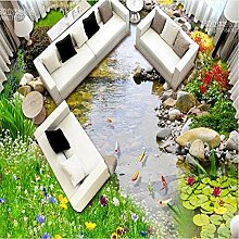 Detazhi Freskos Green Garden Creek Badezimmer 3D