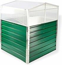 DeTec Set Metall Hochbeet Rosendaal grün 99x99x80