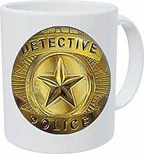 Detektiv Police Bild unter Glas Polizei Abzeichen