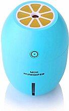 Detome Mini Zitrone Luftbefeuchter Usb-Luftbefeuchter Studentenwohnheim Büro Haushalt Luftbefeuchter kreative Geschenk (Blau)