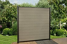 DeToWood 16,2 Lfm. WPC Zaun,180 x 180 cm,