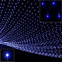 Deuba 100 LED Netzlichterkette Lichterkette Blau |