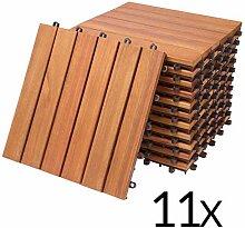 Deuba 11x Holzfliesen Eukalyptus