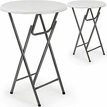 Deuba 2 x Stehtisch Tisch Gartentisch klappbar