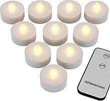 Deuba® 20x LED Teelichter | flackernd | inkl. 2