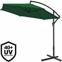 Deuba Alu Ampelschirm Ø 300cm • grün • mit Kurbelvorrichtung • UV-Schutz 40+ • Aluminium • wasserabweisende Bespannung - Sonnenschirm Schirm Gartenschirm Marktschirm