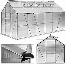 Deuba® Aluminium Gewächshaus 11,73m³ Treibhaus