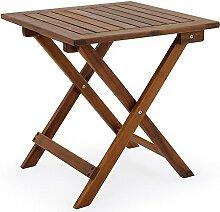 Deuba Beistelltisch Klapptisch Akazie Holz 46x46