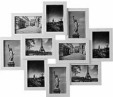 Deuba Bilderrahmen Collage Weiß Für 10 Fotos