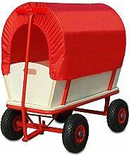 Deuba Bollerwagen mit Plane - 4 luftgefederte