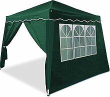 Deuba Faltpavillon grün 3x3 m + 2 Seitenwände -