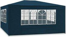 Deuba Festzelt Maui 3x4m Blau   12m² Pavillon mit