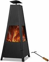 Deuba® Feuerstelle Pyramide | Schürhaken |