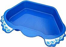 Deuba Fußbad Fußwanne Pool Schwimmbecken Schwimmbadzubehör | Farbe: Blau | Anti-Rutsch Boden | reduziert deutlich den Schmutz im Pool | Kapazität: ca. 12 Liter
