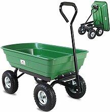 Deuba Gartenkarre 300 kg Kunststoff Kippfunktion