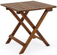 Deuba Gartentisch Beistelltisch Klappbar Holz