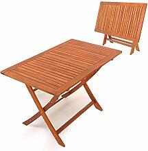 Deuba® Gartentisch Holz massiv | Maße 120 x 70
