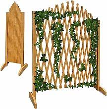 Deuba Gartenzaun Rankhilfe Rankgitter Holzzaun Pflanzengitter ✔ zusammenfaltbar ✔ variabel verstellbar ✔ 180 cm