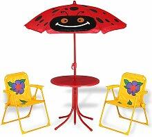 DEUBA Kindersitzgruppe 2x Klappstuhl 1x Tisch mit