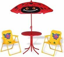 Deuba Kindersitzgruppe Beetle - 2 Stühle und 1