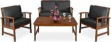 Deuba Lounge Sitzgruppe Atlas | Akazien Holz