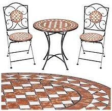 Deuba Mosaik Gartentisch-Set Klappbar