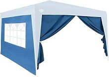Deuba Pavillon Seitenwände für Capri 3x6m blau