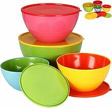 Deuba® Salatschüsseln mit Deckel 4er Set