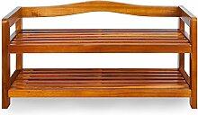 Deuba Schuhregal Schuhschrank Holz I 2 Etagen I