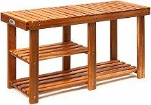 Deuba Schuhregal Schuhschrank mit Sitzbank Holz 3