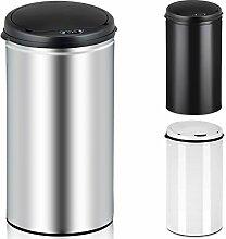 Deuba Sensor Mülleimer 30L Abfalleimer Automatik Müllbehälter Abfallbehälter Edelstahl Papierkorb mit Bewegungssensor silber