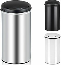 Deuba Sensor Mülleimer 40L Abfalleimer Automatik Müllbehälter Abfallbehälter Edelstahl Papierkorb mit Bewegungssensor silber