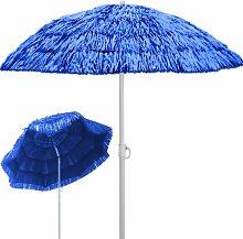 Deuba® Sonnenschirm Hawaii • Ø 160 cm • Neigefunktion • Höhenverstellbar • stabile Verstrebungen • Blau - Gartenschirm Terrassenschirm Balkonschirm Rund Marktschirm Strandschirm