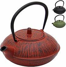 Deuba Teekessel Gusseisen 1100 ml Rot Asiatische