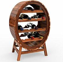 Deuba Weinregal aus Holz für 12 Flaschen Weinfass