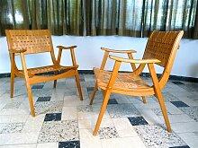 Deutsche Bauhaus Armlehnstühle von Erich Diekmann