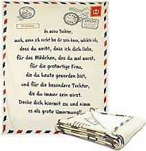 Deutsche Briefdecke Kuscheldecke,Teppich anMeinen