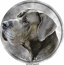 Deutsche Dogge Aufkleber 25 cm
