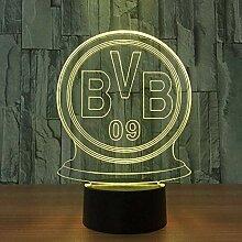 Deutsche Fußballmannschaft Led Bvb 09 Nachtlicht
