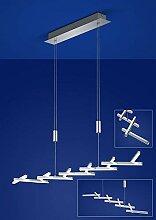 Deutsche LED Pendelleuchte Höhenverstellbar Chrom