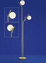 Deutsche LED Stehleuchte Messing matt Tastdimmer 2