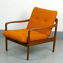 Deutscher Antimott Sessel mit Gestell aus Teak von